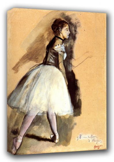 Degas, Edgar: Dancer in a Ballet Position. Fine Art Canvas. Sizes: A3/A2/A1 (00663)